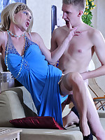 Dressed to kill sissy asks a sporty guy for some additional anal training