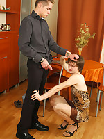 Steamy sissy guy fitting on dress and making chap ready to drill his ass